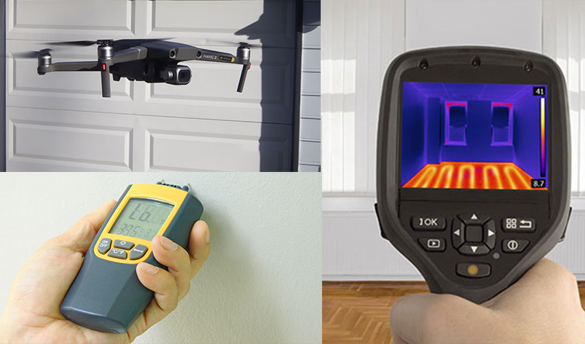 Drone Moisture Meter Flir Home Inspection Services